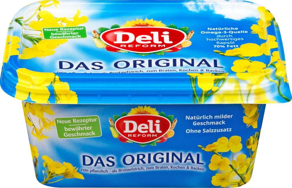 Abbildung des Sortimentsartikels Deli Reform Pflanzenmargarine laktosefrei, 80% Fett 500g