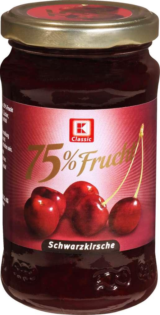 Abbildung des Sortimentsartikels K-Classic Fruchtaufstrich 75% Schwarzkirsche 250g