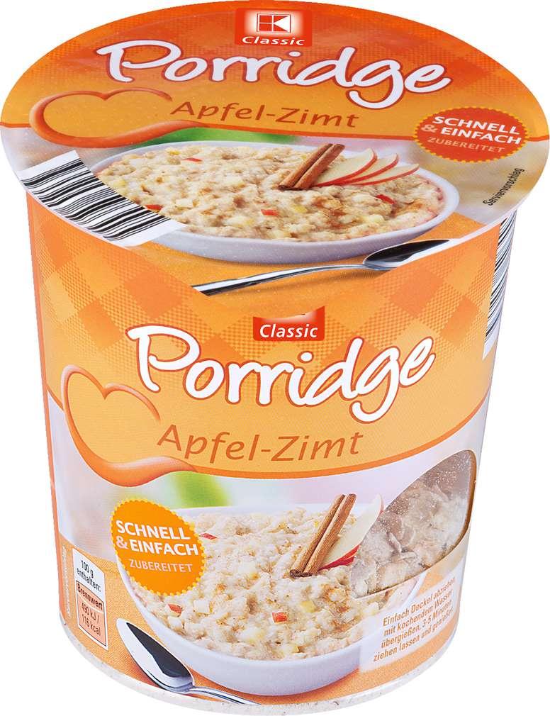 Abbildung des Sortimentsartikels K-Classic Porridge Apfel-Zimt 65g