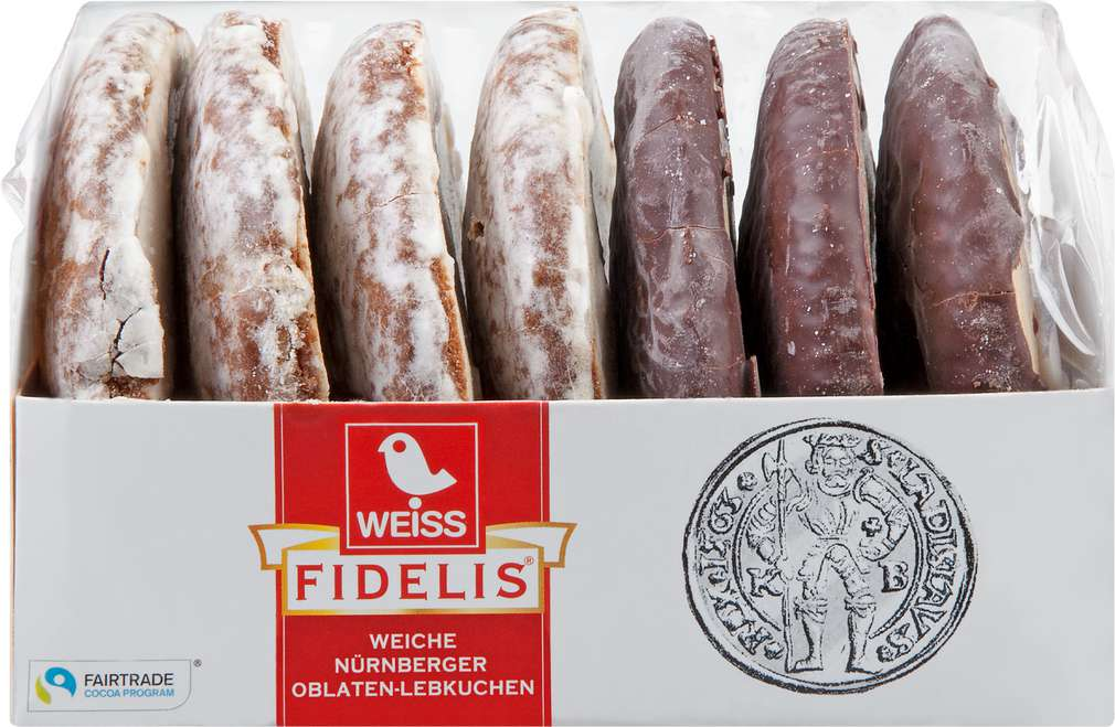 Abbildung des Sortimentsartikels Weiss Fidelis Weiche Nürnberg Oblaten-Lebkuchen Mischung 200g