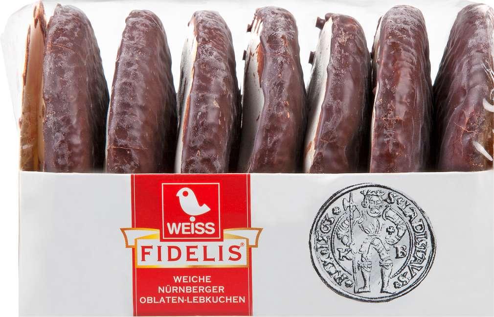 Abbildung des Sortimentsartikels Weiss Fidelis Weicher Nürnberger Oblaten-Lebkuchen 200g