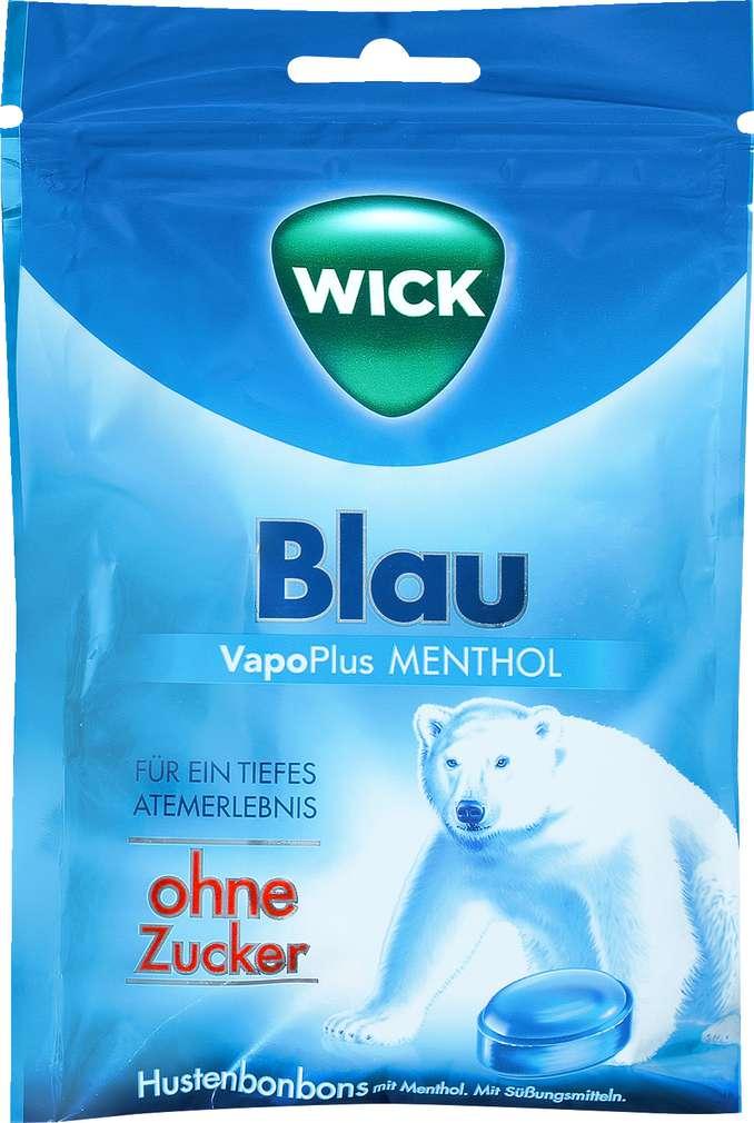 Abbildung des Sortimentsartikels Wick Blau Menthol Hustenbonbons zuckerfrei 72g