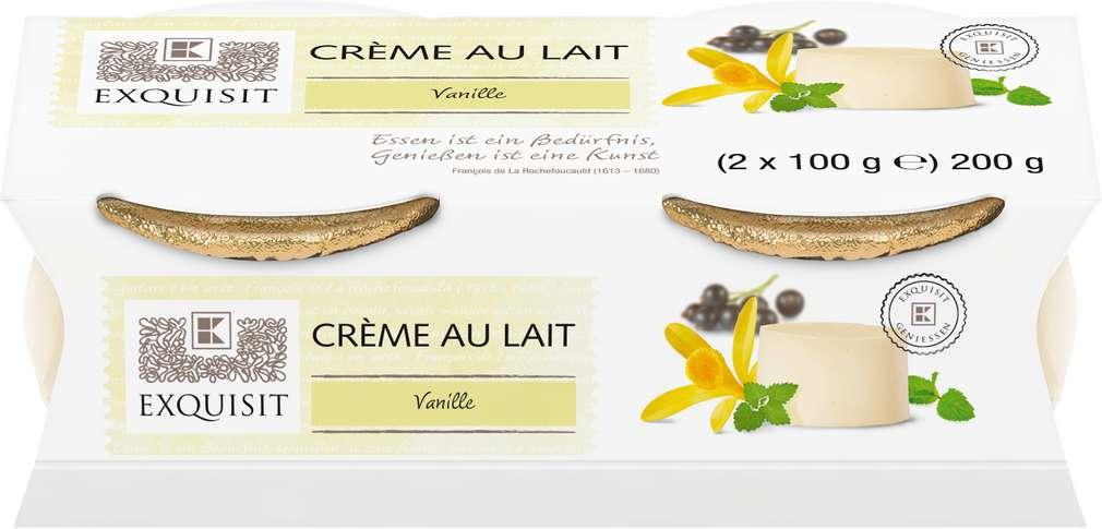 Abbildung des Sortimentsartikels Exquisit Crème au Lait Vanille 2x100g