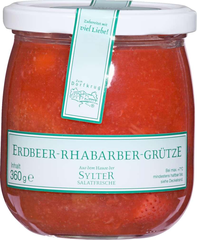 Abbildung des Sortimentsartikels Zum Dorfkrug Erdbeer-Rhabarber-Grütze 360g