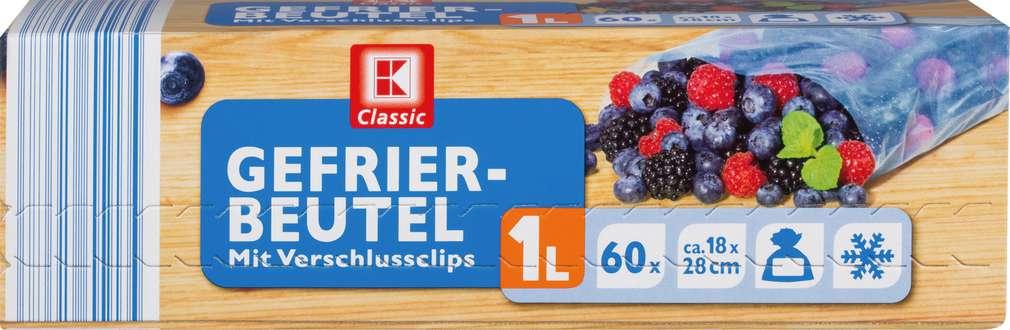 Abbildung des Sortimentsartikels K-Classic Gefrierbeutel mit Aromaschutz 1l 60Stück