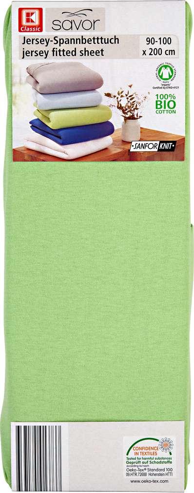 Abbildung des Sortimentsartikels K-Classic Jersey-Spannbetttuch grün