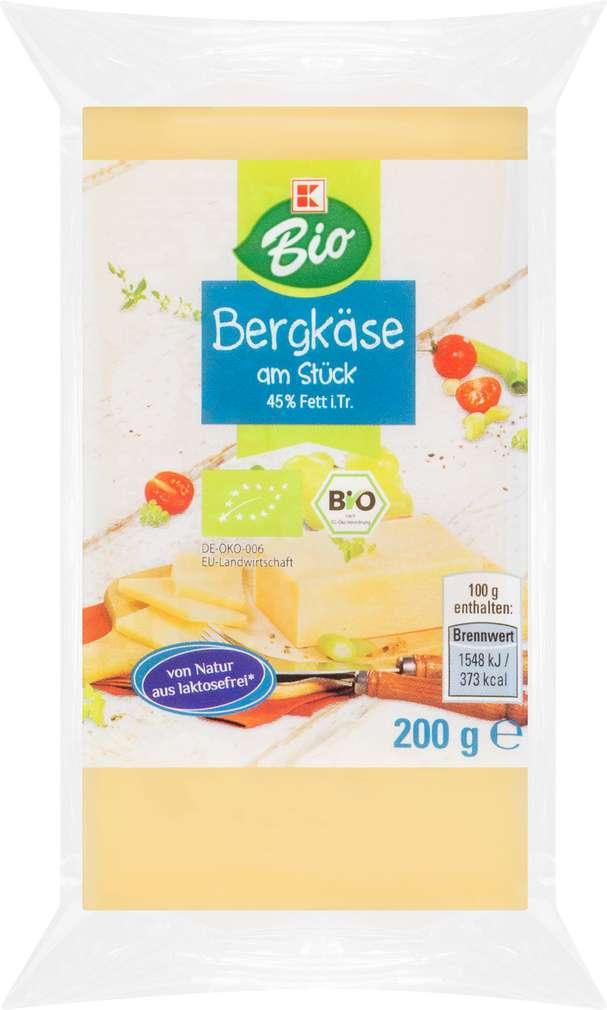 Abbildung des Sortimentsartikels K-Bio K-Bio Bergkäse Stück 45% Fett i.Tr. 200g
