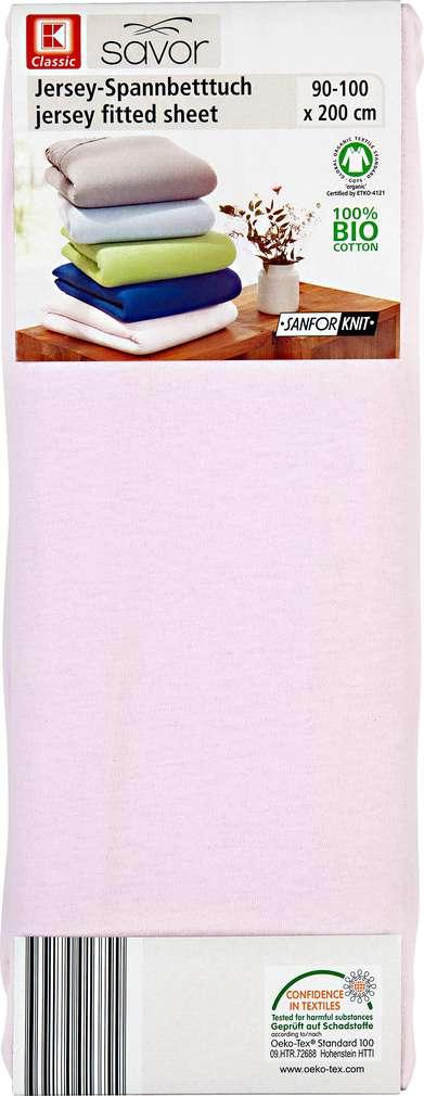 Abbildung des Sortimentsartikels Liv & Bo Jersey-Spannbetttuch rose