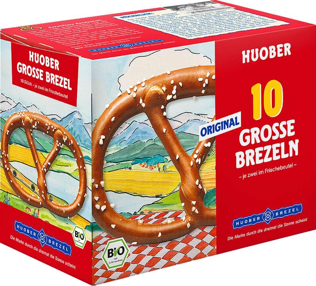 Abbildung des Sortimentsartikels Huober 10 Original grosse Huober Brezeln 200g