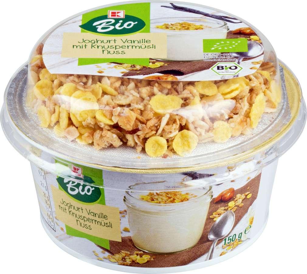Abbildung des Sortimentsartikels K-Bio K-Bio Vanillejoghurt Knuspermüsli Nuss 150g