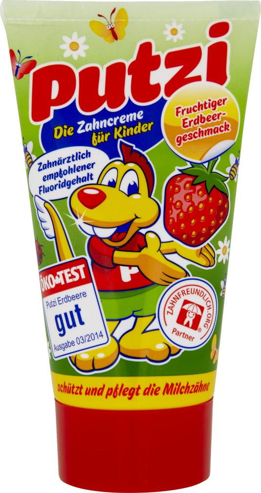 Abbildung des Sortimentsartikels Putzi Kinder-Zahncreme Erdbeere 50ml