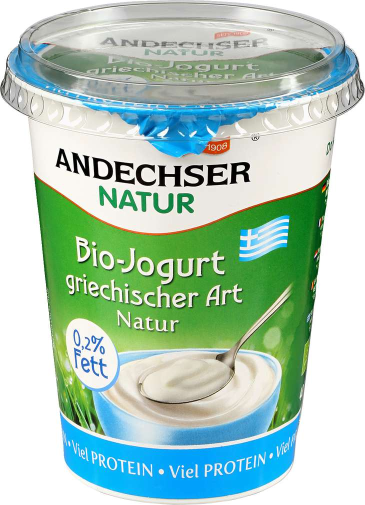Abbildung des Sortimentsartikels Andechser Natur Bio-Joghurt griechische Art natur 0,2% 400g