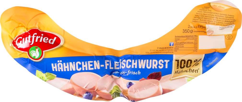 Abbildung des Sortimentsartikels Gutfried Hähnchen-Fleischwurst 350g