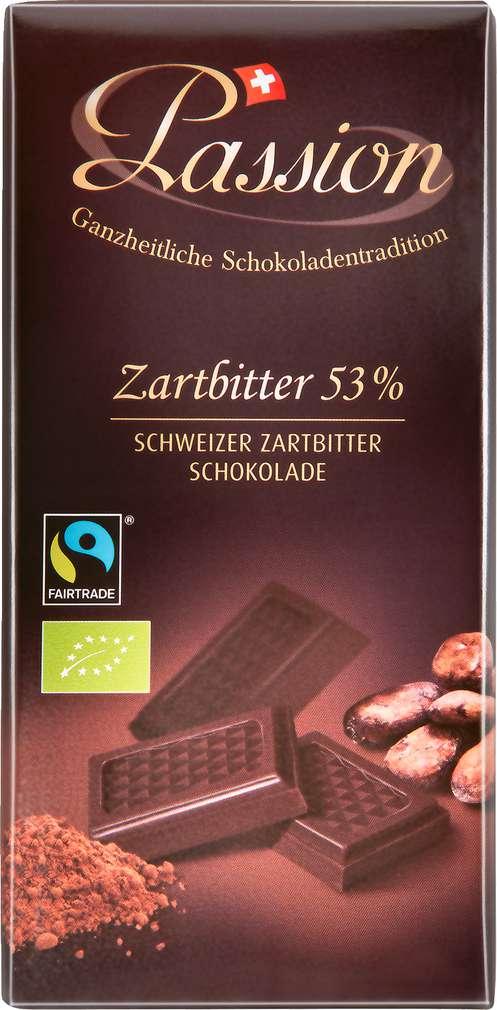 Abbildung des Sortimentsartikels Passion Zartbitter 53% 100g