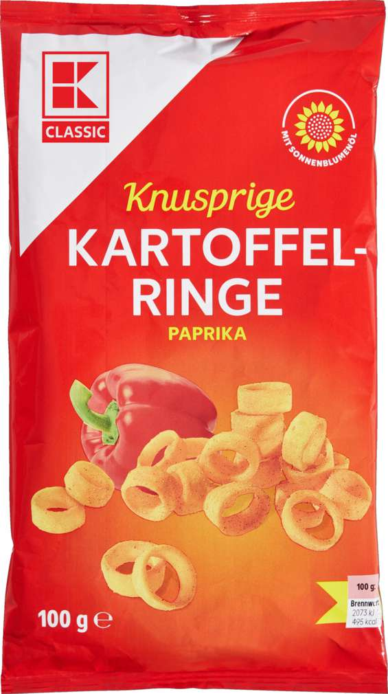 Abbildung des Sortimentsartikels K-Classic Kartoffelringe Paprika 100g