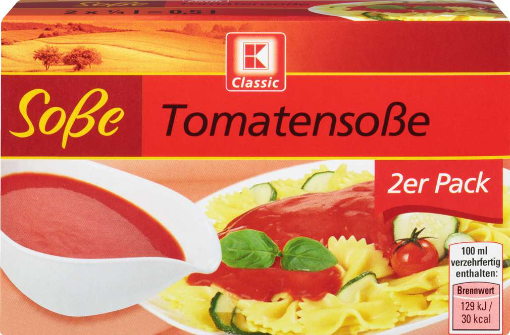 Abbildung des Sortimentsartikels K-Classic Tomatensoße 2x0,25l