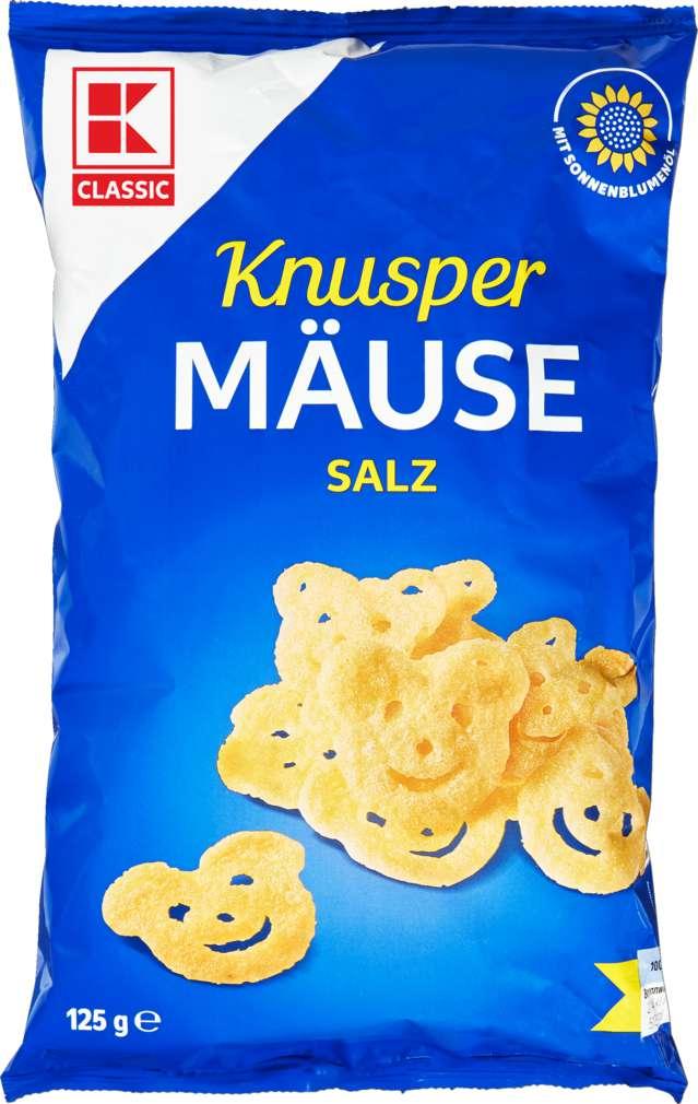 Abbildung des Sortimentsartikels K-Classic Knuspermäuse Salz 125g
