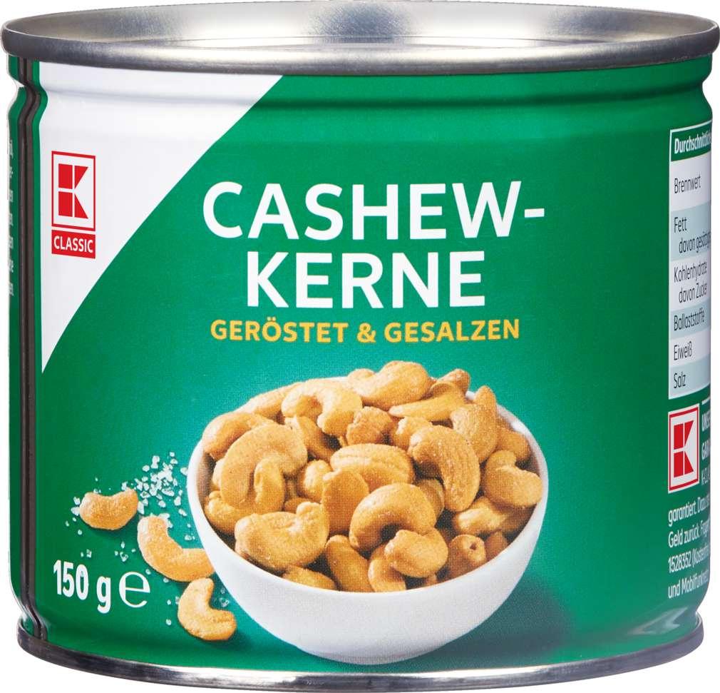 Abbildung des Sortimentsartikels K-Classic Cashewkerne gesalzen 150g