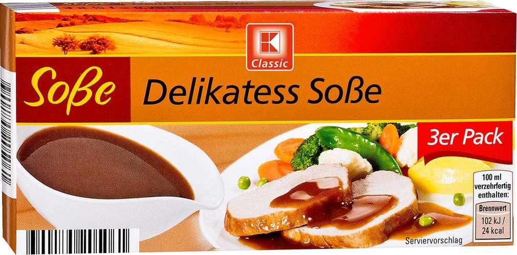 Abbildung des Sortimentsartikels K-Classic Delikatess Soße 3x0,25l