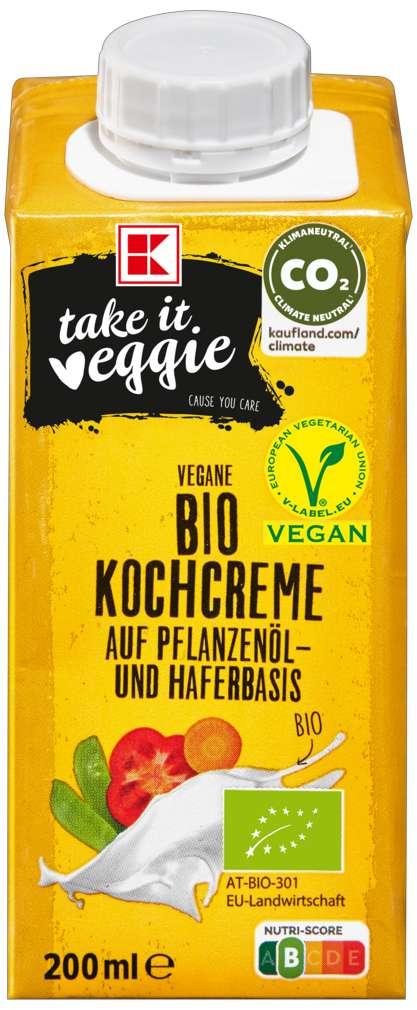 Abbildung des Sortimentsartikels K-Take it Veggie Hafer-Kochcreme 200ml