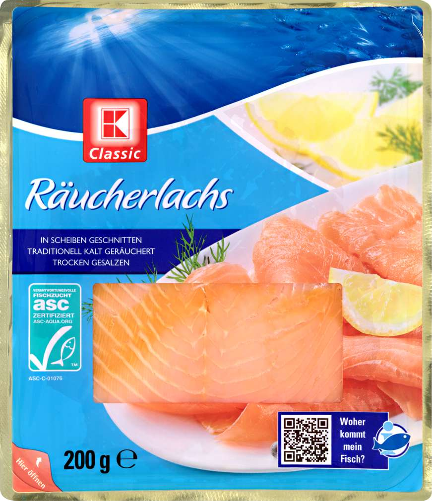 Abbildung des Sortimentsartikels K-Classic Räucherlachs in Scheiben 200g