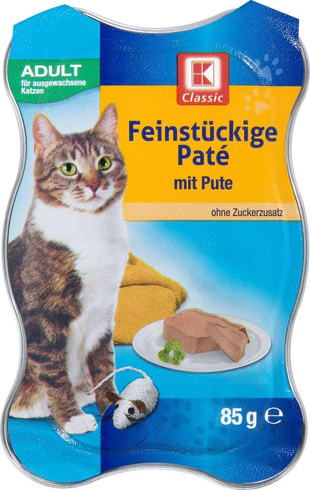 Abbildung des Sortimentsartikels K-Classic Katzenfutter Paté mit Pute 85g