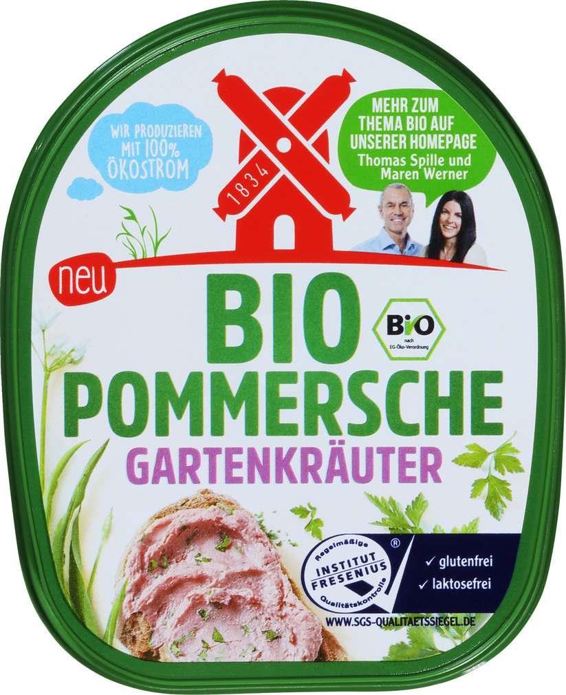 Abbildung des Sortimentsartikels Rügenwalder Mühle Bio-Gartenkräuter Pomm. laktosefrei 125g