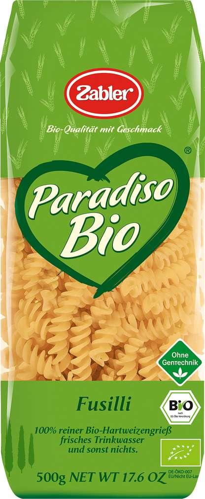 Abbildung des Sortimentsartikels Zabler Paradiso Bio Fusilli 500g
