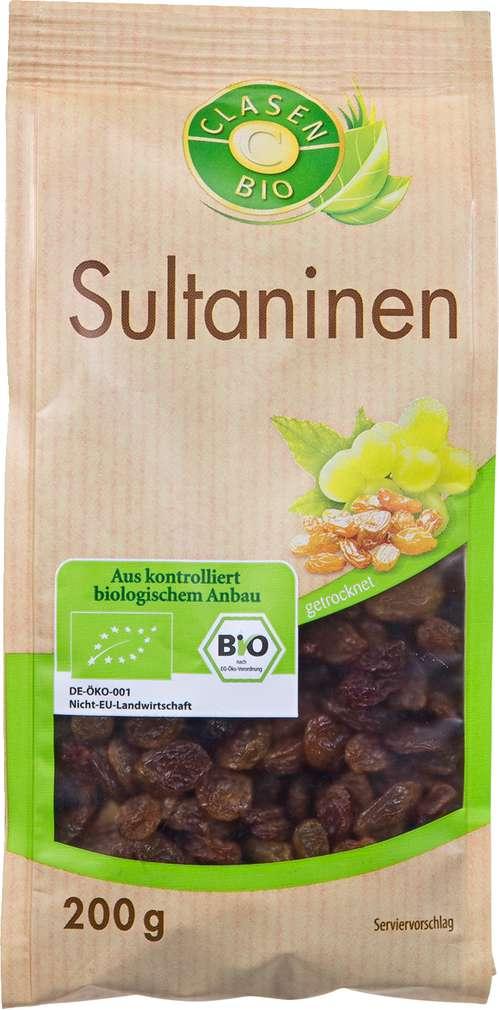 Abbildung des Sortimentsartikels Clasen Bio Sultaninen 200g