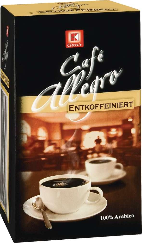 Abbildung des Sortimentsartikels K-Classic Café Allegro Röstkaffee gemahlen, entkoffeiniert 500g