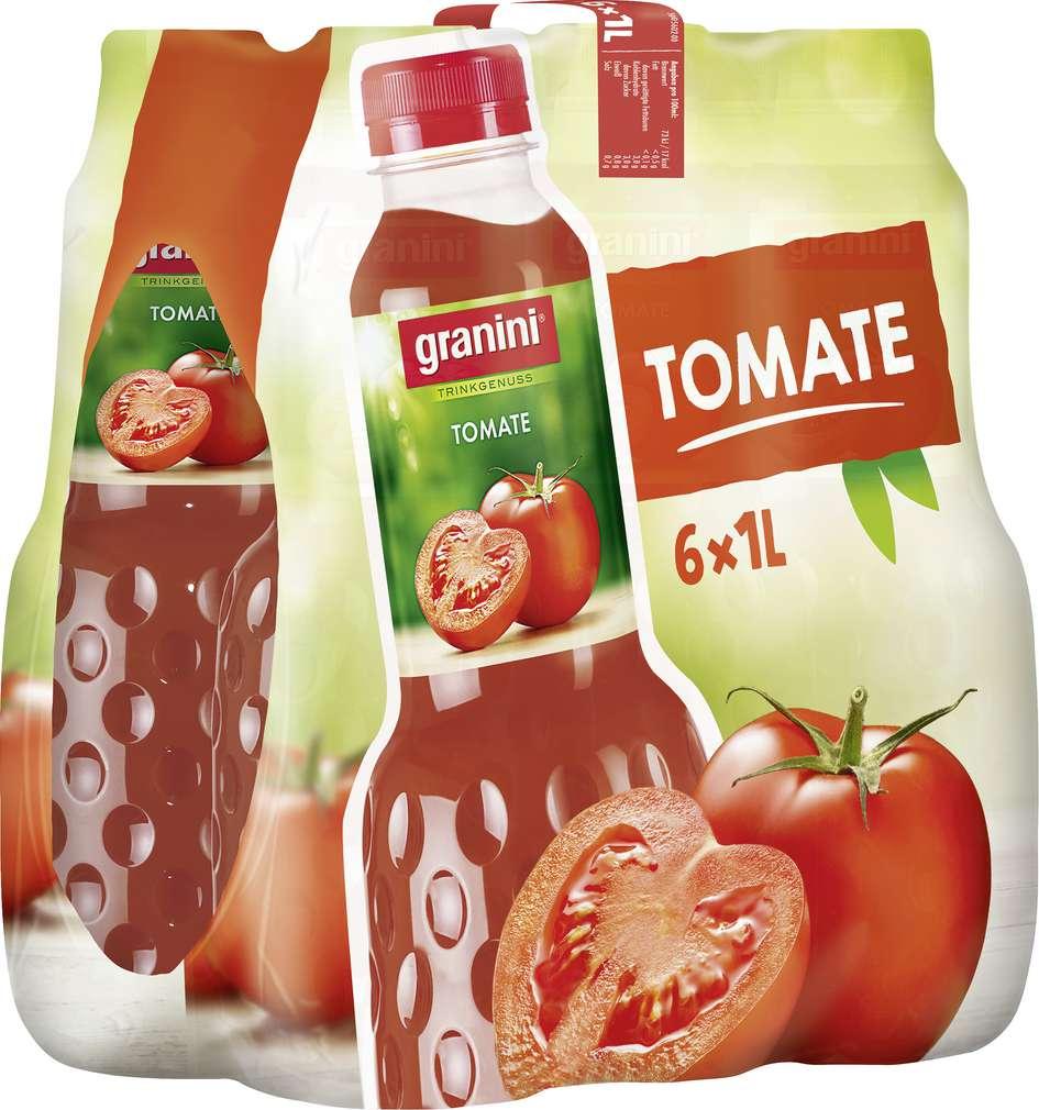 Abbildung des Sortimentsartikels Granini Tomatensaft 6x1l