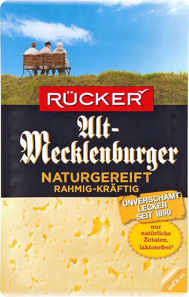 Abbildung des Sortimentsartikels Rücker Alt-Mecklenburger rahmig-kräftig 100g