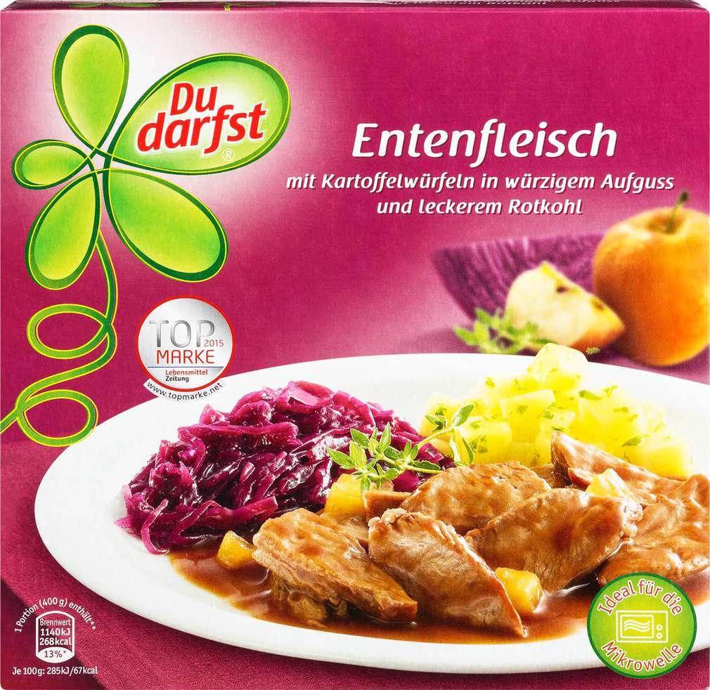 Abbildung des Sortimentsartikels Du Darfst Entenfleischmit Kartoffelwürfeln 400g