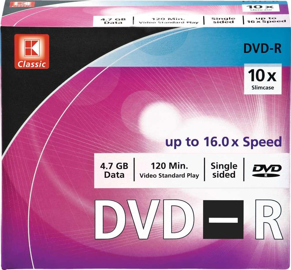 Abbildung des Sortimentsartikels K-Classic DVD-R Rohlinge, 4,7 GB