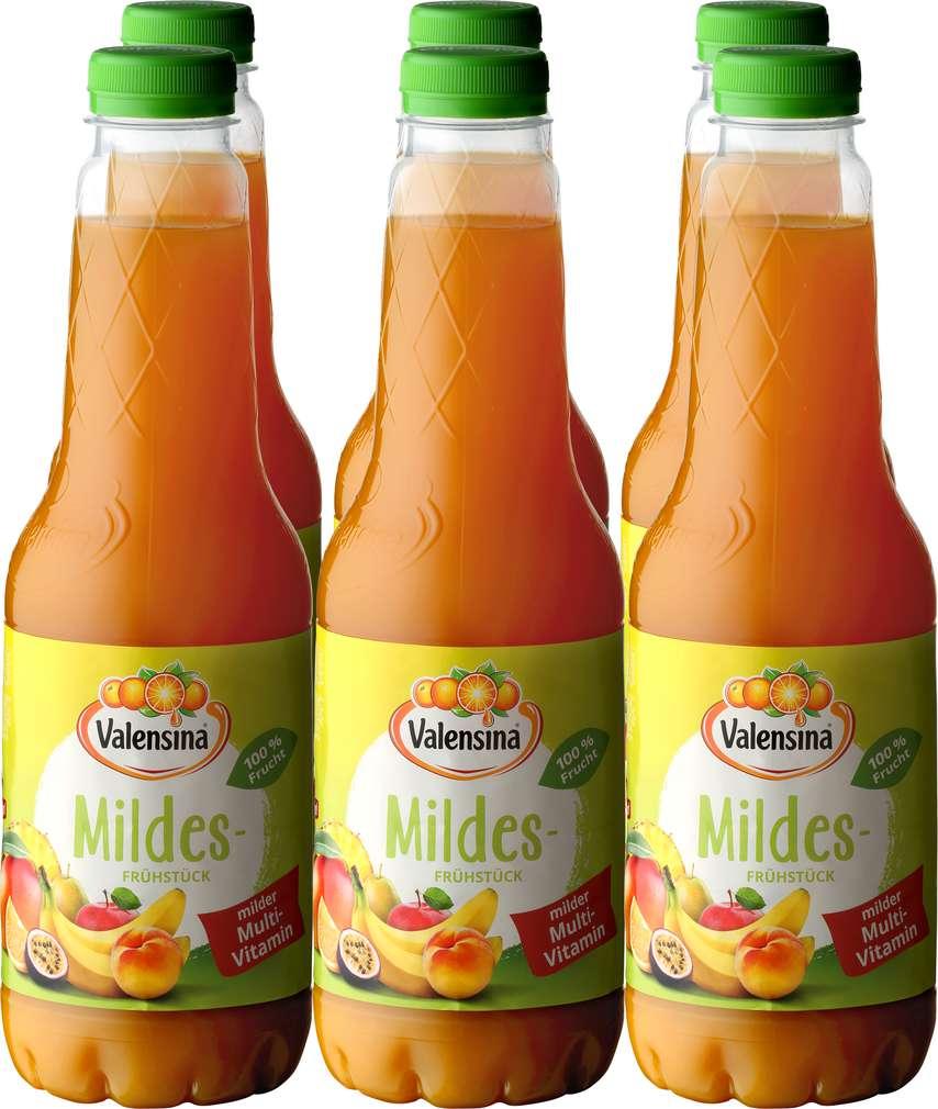 Abbildung des Sortimentsartikels Valensina Mildes Frühstück Milder Multivitaminsaft Mildes Frühstück 6x1l