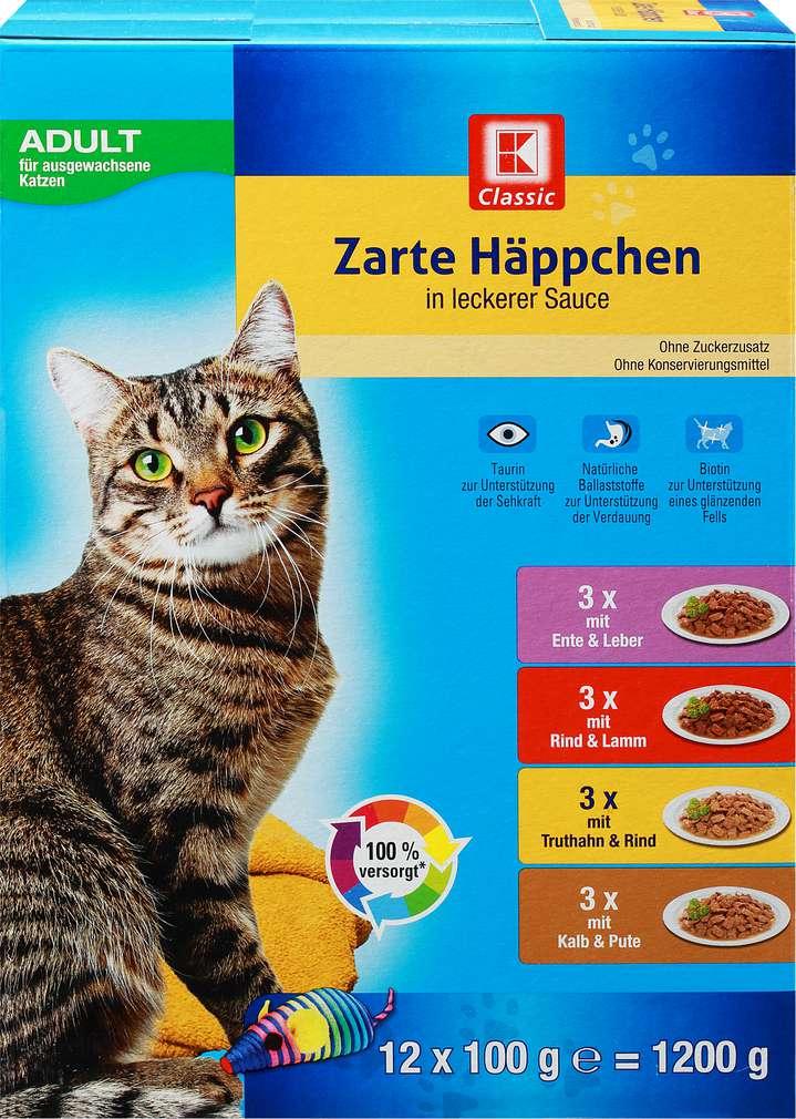 Abbildung des Sortimentsartikels K-Classic Katzennahrung Sauce 12x100g