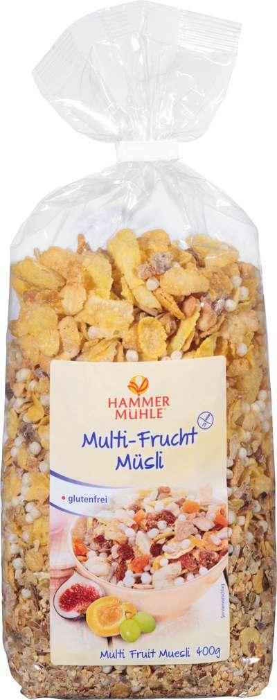 Abbildung des Sortimentsartikels Hammermühle Multi-Frucht Müsli glutenfrei 400g