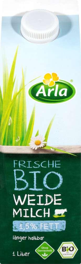 Abbildung des Sortimentsartikels Arla Frische Bio Weidemilch 1,5% 1l
