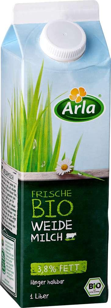 Abbildung des Sortimentsartikels Arla Frische Bio Weidemilch 3,8% 1l