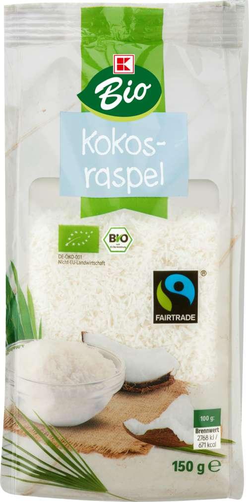 Abbildung des Sortimentsartikels K-Bio Kokosraspeln 150g