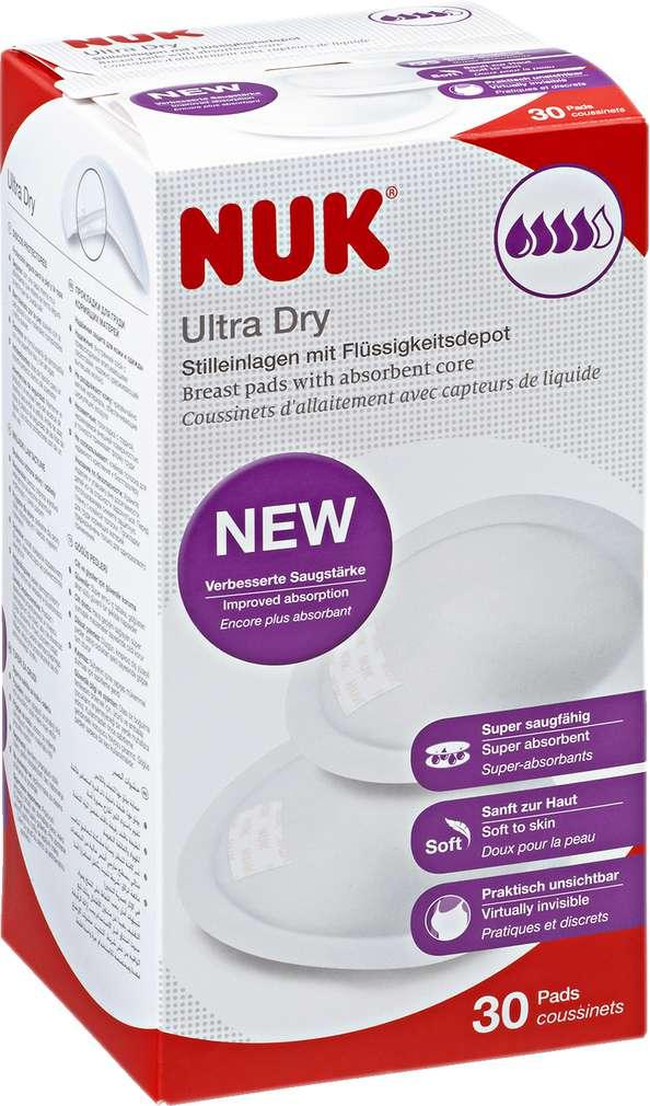 Abbildung des Sortimentsartikels Nuk Ultra Dry Stilleinlagen mit Flüssigkeitsdepot 30 Pads