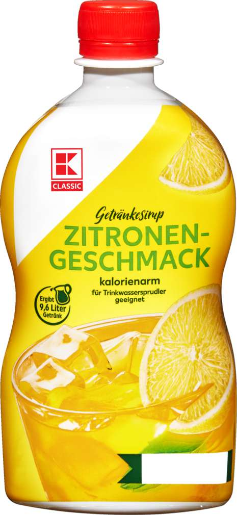 Abbildung des Sortimentsartikels K-Classic Getränkesirup Zitrone 0,4l