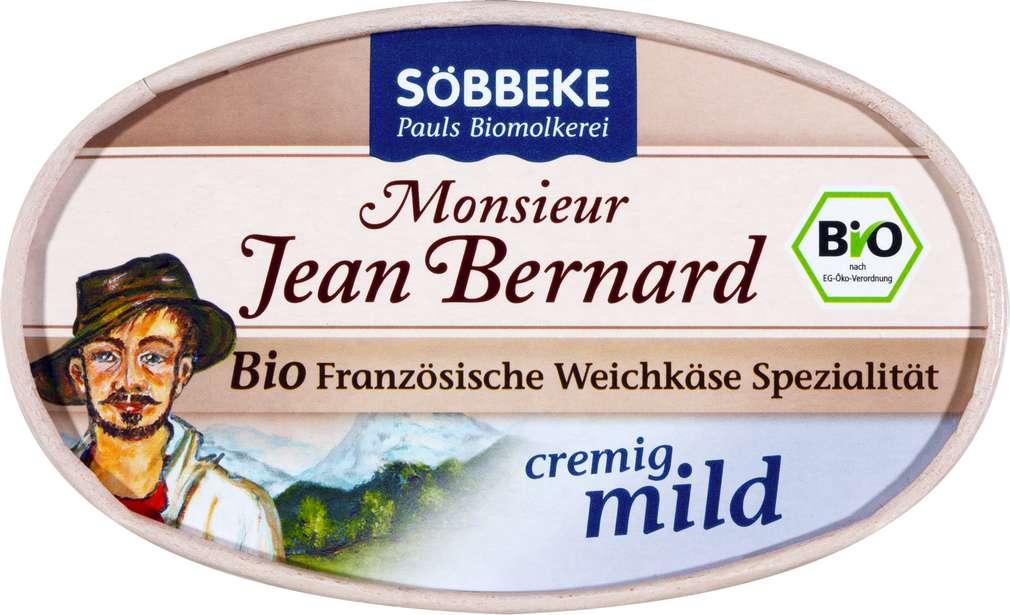 Abbildung des Sortimentsartikels Söbbeke Bio-Weichkäse 60% Fett i.Tr. MonsieurJeanBernard 200g