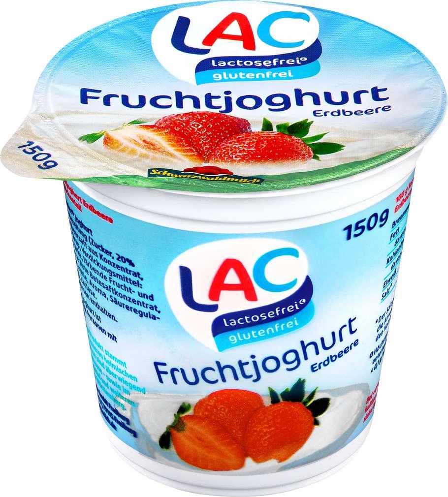 Abbildung des Sortimentsartikels LAC lactosefrei Fruchtjoghurt Erdbeere 150g