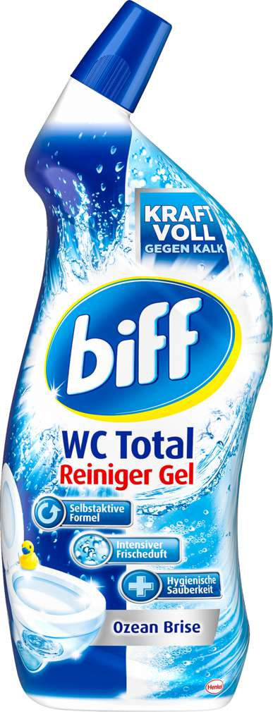 Abbildung des Sortimentsartikels Biff WC-Total WC-Reiniger Ocean Brise 750ml