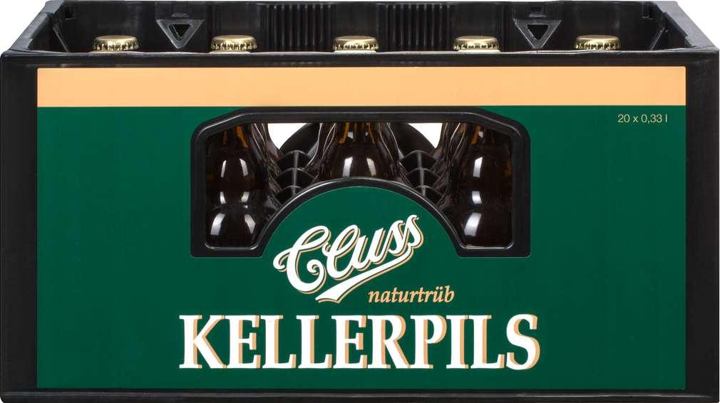 Abbildung des Sortimentsartikels Dinkelacker Cluss Kellerpils 20/0,33l