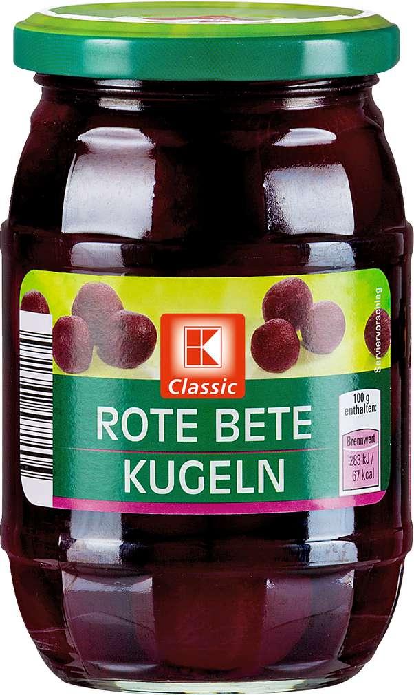 Abbildung des Sortimentsartikels K-Classic Rote Bete Kugeln 330g