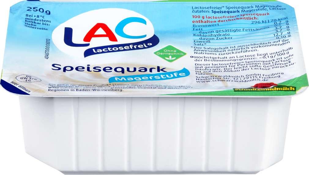 Abbildung des Sortimentsartikels Schwarzwaldmilch Quark 0%F.i.Tr.Mager laktosefrei 250g
