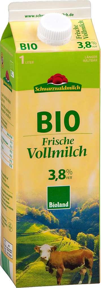 Abbildung des Sortimentsartikels Schwarzwaldmilch Frische Bio Vollmilch 3,8% 1l