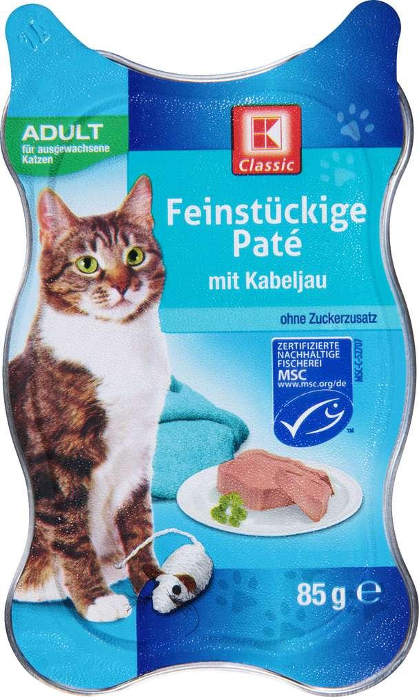 Abbildung des Sortimentsartikels K-Classic Katzenfutter Paté mit Kabeljau 85g